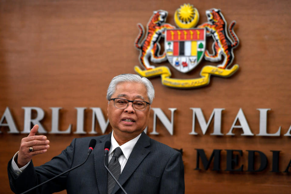 Senior Minister (Security Cluster) Datuk Seri Ismail Sabri Yaakob said the police arrested 456 people yesterday for violating the CMCO. — Bernama pic