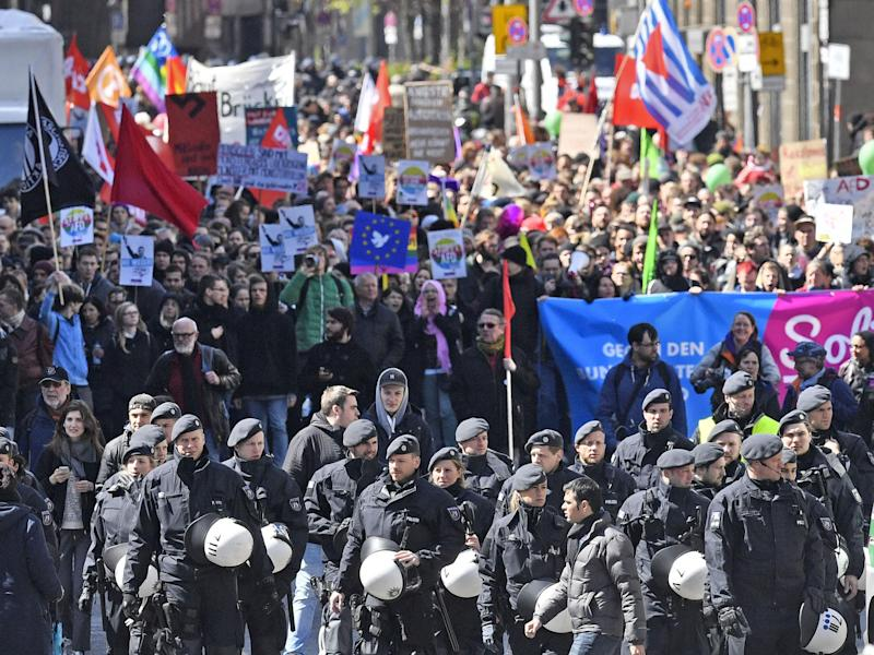 Around 15,000 protesters march in Cologne: Associated Press