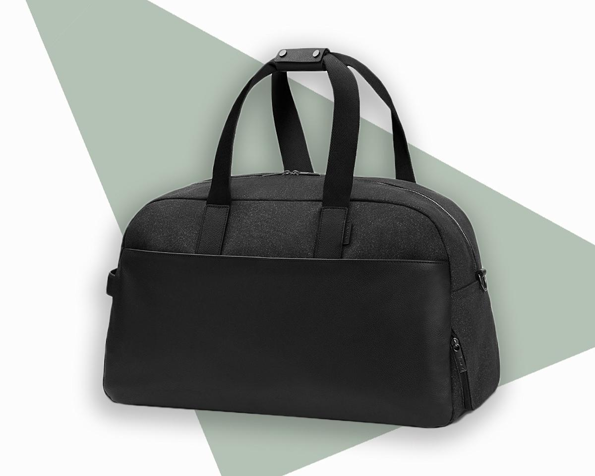 """<p><a href=""""https://www.cntraveler.com/story/why-everyone-wants-an-away-suitcase?mbid=synd_yahoo_rss"""">Away</a>'s weekender bag may look sleek but it hides a slew of thoughtfully placed features: two exterior zip pockets to stow small items within reach, several interior pockets including a hidden laptop sleeve, a separated wipeable shoe compartment, and a trolley strap to secure it to your suitcase. We love the latest limited edition version, dubbed 'Maverick'—a classy spin on your typical canvas bag with marbled charcoal nylon, pebbled leather accents, and a checked-print lining inspired by classic tailored suits.</p> <p><strong>Buy now:</strong> $325, <a href=""""https://fave.co/2AVucFp"""" rel=""""nofollow"""">awaytravel.com</a></p>"""