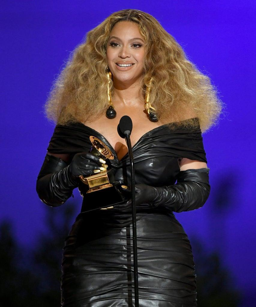 LOS ANGELES, CALIFORNIA – MARCH 14: Beyoncé accepts the Best R&B Performance award for 'Black Parade' onstage during the 63rd Annual GRAMMY Awards at Los Angeles Convention Center on March 14, 2021 in Los Angeles, California. (Photo by Kevin Winter/Getty Images for The Recording Academy)
