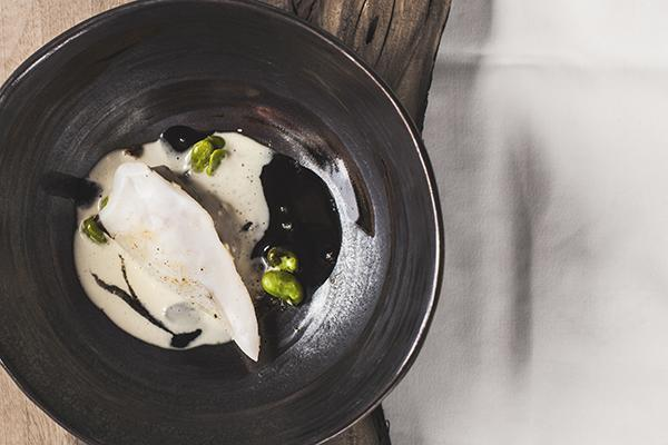 Ana Ros: Squid, lamb sweetbreads, fermented cheese