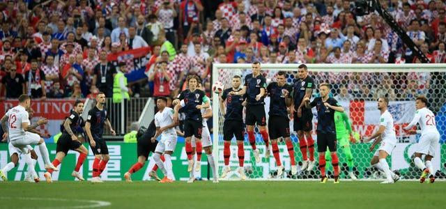 Trippier's free-kick had given England the lead in their World Cup semi-final defeat to Croatia.