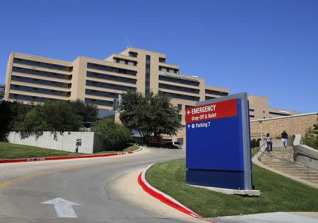 A general view of the Texas Health Presbyterian Hospital in seen in Dallas, Texas, October 4, 2014.  REUTERS/Jim Young