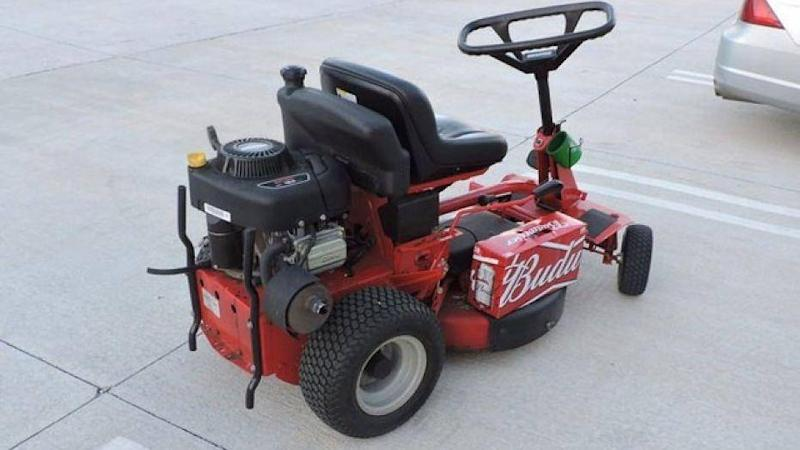 The police officer prevented Alleshouse from continuing to drive the lawn mower and could detect a potent smell of alcohol coming from him: Port St Lucie Police Department
