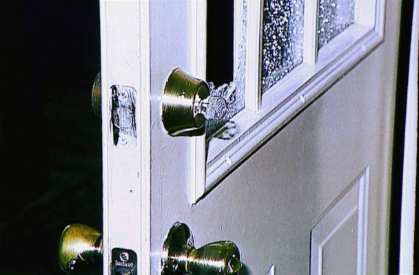 PHOTO: On Jan. 11, 1999, David Temple says he came home to what looked like a home invasion. The gate was open and a window on the door had been broken. (Harris County Sheriff's Office)