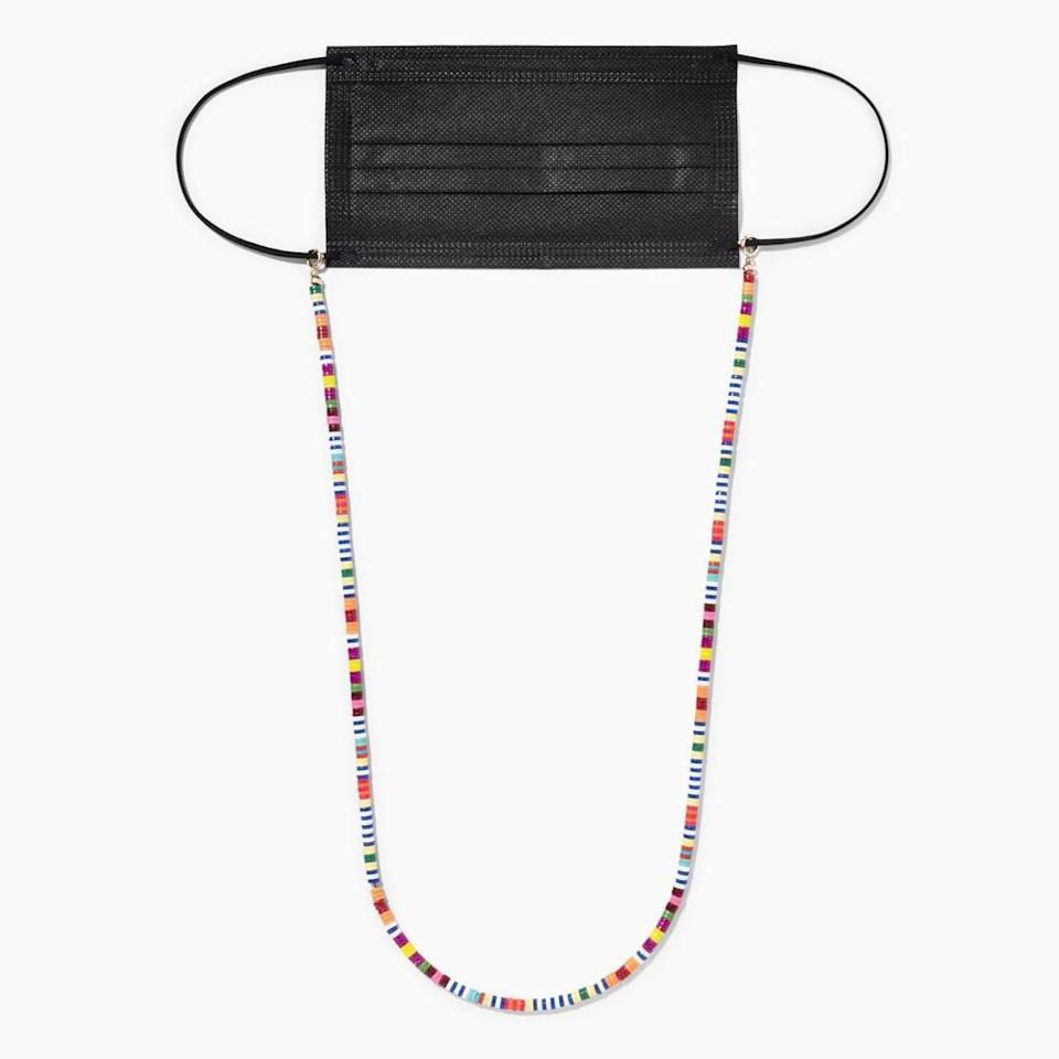 """<p>""""<span>Roxanne Assoulin's In the Mix beaded chain</span> ($90) is perfect for those with glasses. You can affix it to your mask for a fun pop of color, or attach it to your eyeglasses if you're the type of person who constantly takes them off then puts them back on. Oh yeah, that's me.""""</p>"""