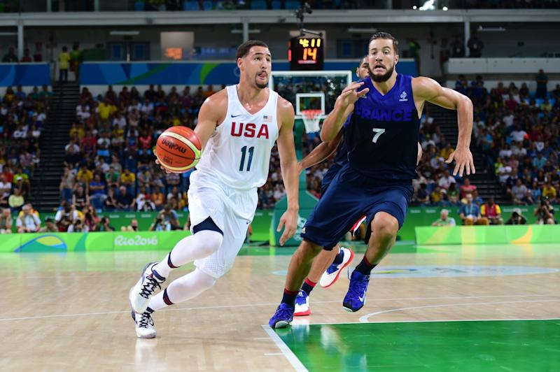 Klay Thompson scored 30 points in Team USA's victory over France. (Getty)