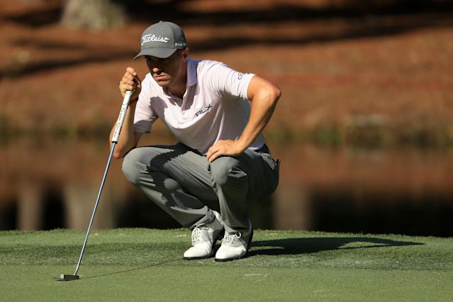 After Nick Watney tested positive for the coronavirus on Friday, Justin Thomas slammed Hilton Head residents for not taking it seriously. (Streeter Lecka/Getty Images)