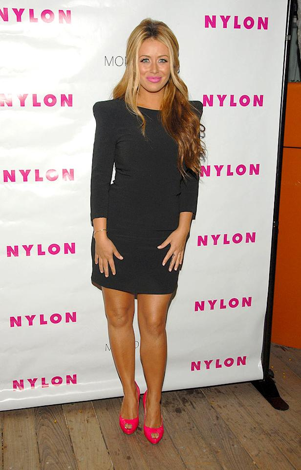 """Aubrey O'Day's makeup artist must be playing a trick on her, right? Mark Sullivan/<a href=""""http://www.wireimage.com"""" target=""""new"""">WireImage.com</a> - August 24, 2009"""
