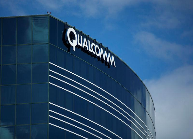 FILE PHOTO - A Qualcomm building in San Diego California