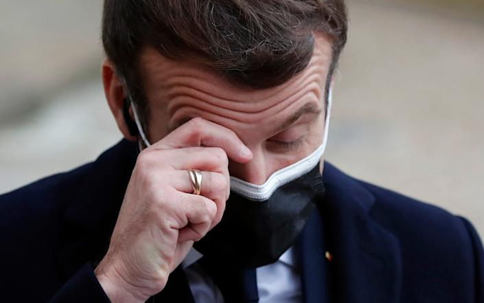 French President Macron tested positive for Covid yesterday - AP