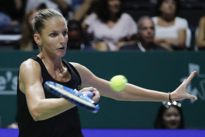 Karolina Pliskova beats Petra Kvitova to book semi-finals spot in Singapore