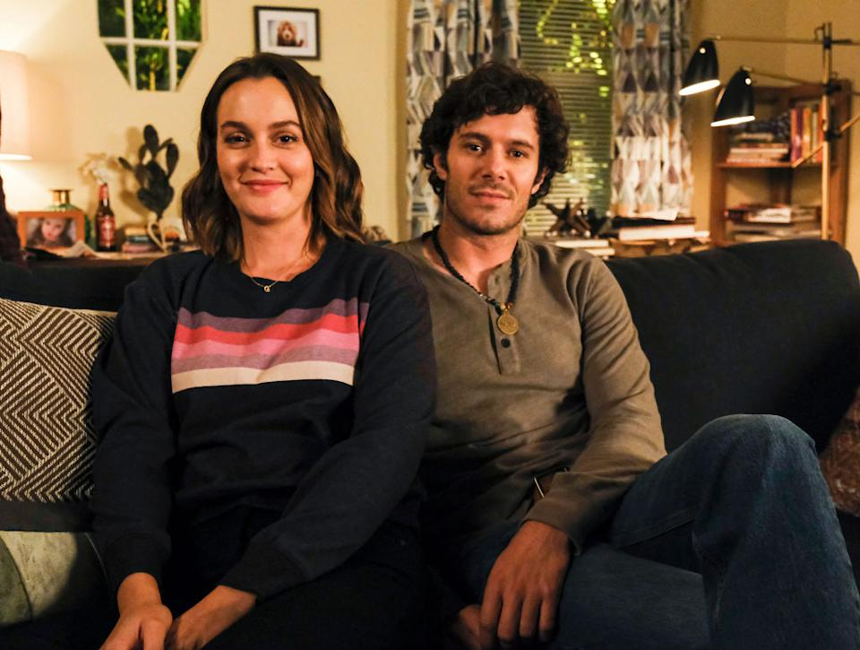 Leighton Meester et Adam Brody sur le tournage de Single parents