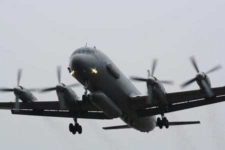 A Russian Il-20 reconnaissance aircraft takes off from Central military airport in Rostov-on-Don