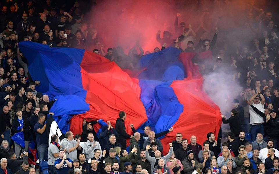 Crystal Palace fans during the match - REUTERS/Toby Melville