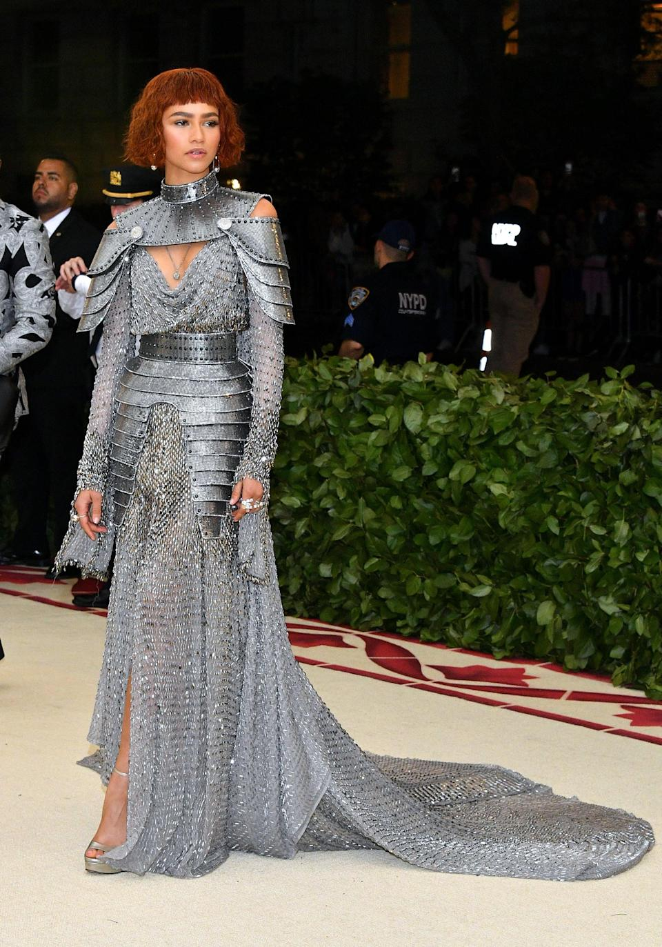 """<p>That one time Roach pulled inspo from Joan of Arc for <a class=""""link rapid-noclick-resp"""" href=""""https://www.popsugar.com/Zendaya"""" rel=""""nofollow noopener"""" target=""""_blank"""" data-ylk=""""slk:Zendaya"""">Zendaya</a>'s Met Gala look. And yes, according to the actor, the metallic Versace gown is as heavy as it looks.</p>"""