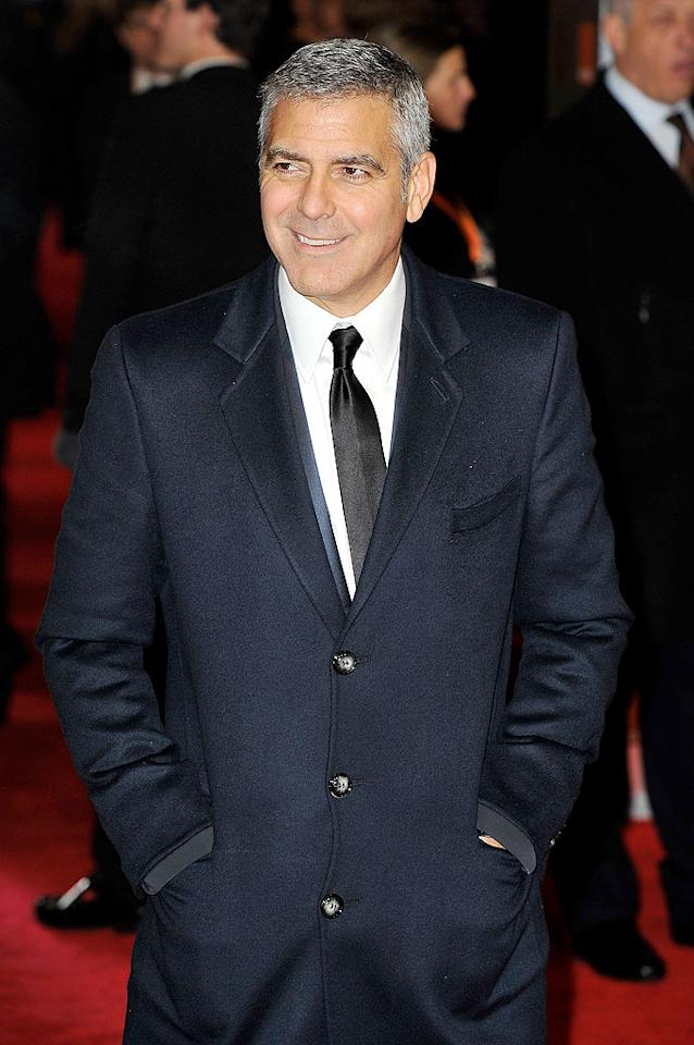 "<span style=""font-size:11.0pt;"">Like a fine wine, George Clooney has only gotten better – and more handsome – with age. The ""Descendents"" actor, who earned his AARP card last May after turning 50, says that he has no problem with aging and he's not in denial about it either. ""I look at myself onscreen and go, 'I don't look like I did when I was 40 -- I know that,' "" Clooney told <em>Parade</em> last year after his milestone birthday. ""The people I've respected most in the industry over the years -- Paul Newman, for instance. I just loved the way he handled growing old onscreen. It's understanding that you're now basically a character actor."" It probably also helps that the actor notoriously dates women decades his junior, like his current squeeze, 32-year-old Stacy Keibler.</span>"