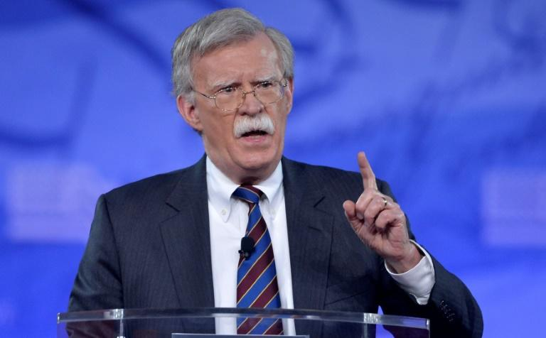 Former US ambassador to the United Nations John Bolton addresses a conservative conference in Maryland on February 24, 2017