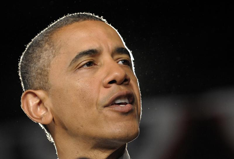 FILE - In this July 20, 2012 file photo, President Barack Obama speaks in Ft. Myers, Fla. Most of America doesn't relate to Mitt Romney's religion but that may not matter in his race against President Barack Obama. Those are the findings of a new Pew Research Center poll a month before Romney will officially become the first Mormon presidential nominee of the two major political parties (AP Photo/Susan Walsh, File)