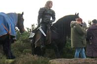 <p>Henry Cavill continues filming season 2 of <em>The Witcher</em> on horseback in Surrey, England.</p>