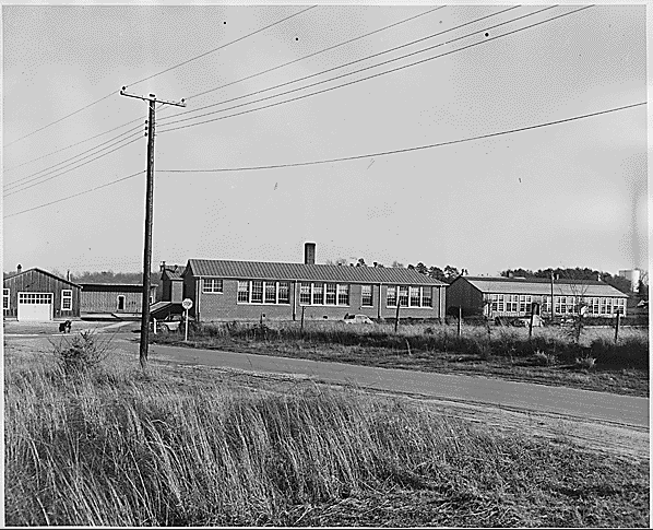 The exterior of Moton High School (credit: National Archives)