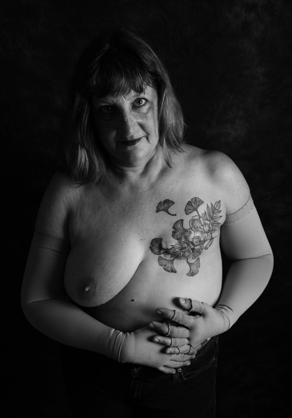 Alison Meaton, 59, West Cornwall, was diagnosed with stage 3 breast cancer when she was 48.<em> [Photo: Ami Barwell/PA Wire]</em>