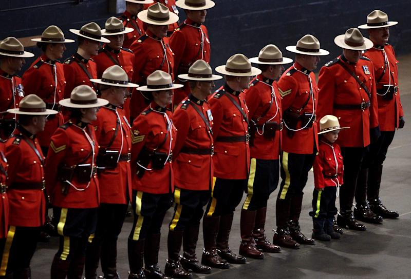 RCMP officers at a change of command ceremony in Vancouver, on Feb. 11, 2011. (Photo: The Canadian Press)