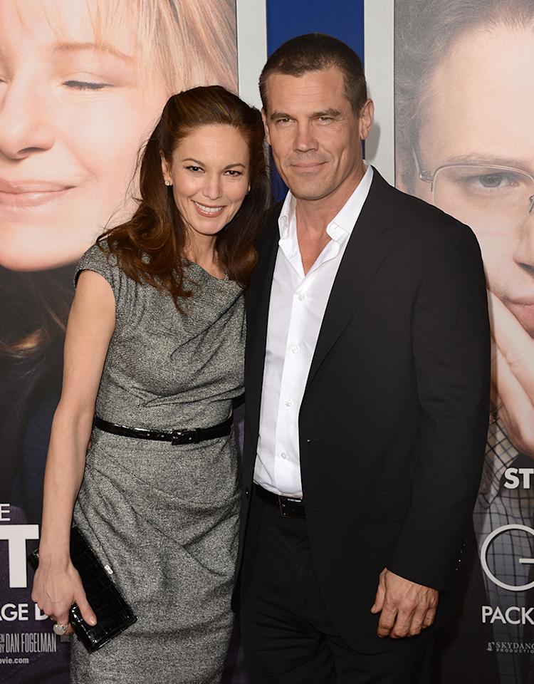 WESTWOOD, CA - DECEMBER 11:  Actress Diane Lane and actor Josh Brolin attend the Paramount Pictures' premiere of 'The Guilt Trip at Regency Village Theatre on December 11, 2012 in Westwood, California.  (Photo by Jason Merritt/Getty Images)