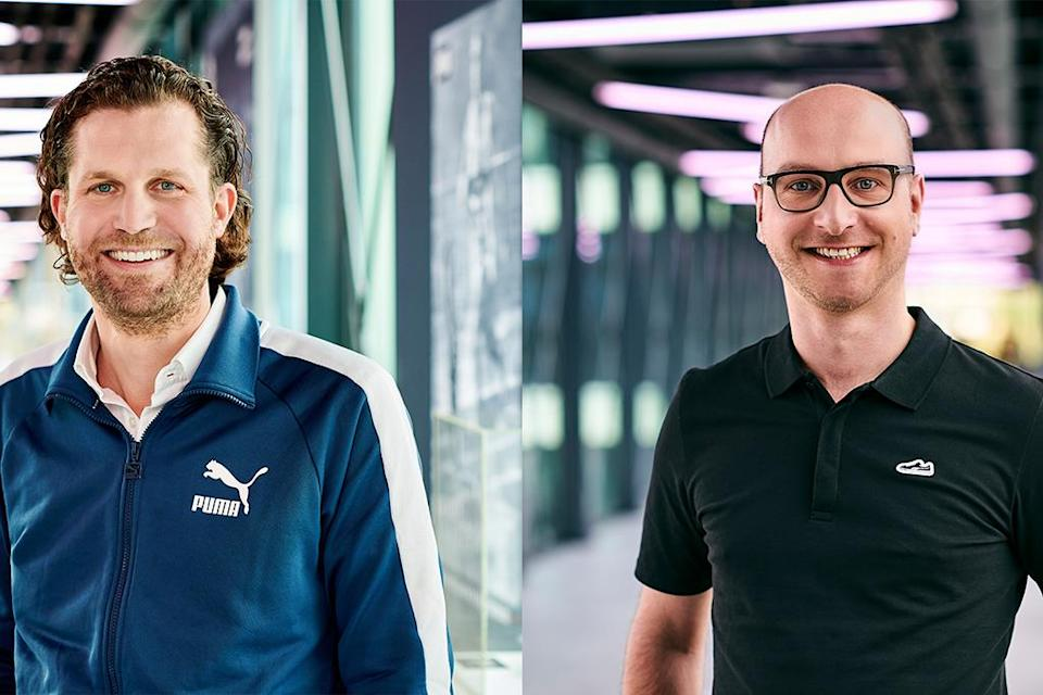 (L to R): Puma execs Hubert Hinterseher and Arne Freundt. - Credit: Courtesy of Puma