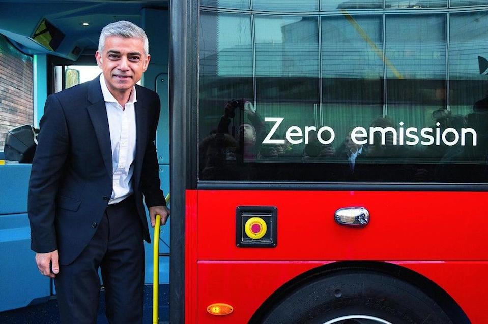 Sadiq Khan is pushing for cleaner London air (Getty Images)