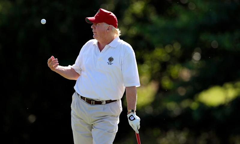 Donald Trump playing golf