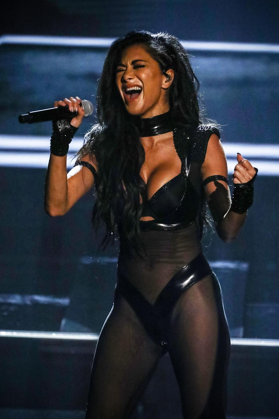 Nicole Scherzinger performing on X Factor: Celebrity (Photo: Dymond/Thames/Syco/Shutterstock)