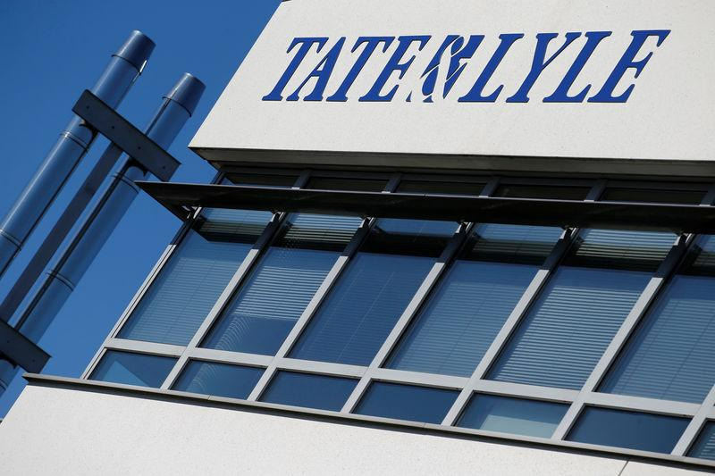 The logo of Tate & Lyle compagny is seen on their building of the European Innovation Centre in Villeneuve d'Ascq