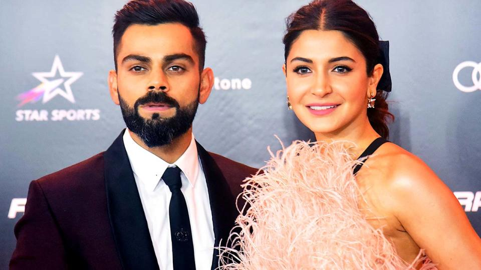 Virat Kohli and wife Anushka Sharma, pictured here at the Indian Sports Honours annual ceremony.