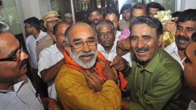 As soon as he reached the busy Aluva town, Alphons started requesting votes from the people around. This was also his public interaction after being announced as the candidate from Ernakulam Lok Sabha constituency.