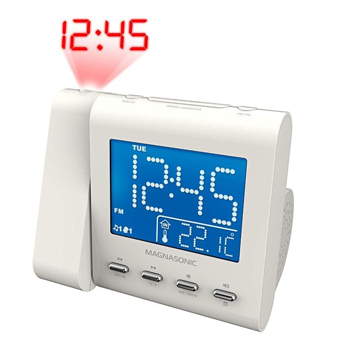 """Your tween will have no more excuses for sleeping in too late on school days with <strong><a href=""""https://amzn.to/2pBV8rQ"""" rel=""""nofollow noopener"""" target=""""_blank"""" data-ylk=""""slk:this alarm clock"""" class=""""link rapid-noclick-resp"""">this alarm clock</a></strong> that displays the time right on the ceiling.&nbsp;<strong><a href=""""https://amzn.to/2pBV8rQ"""" rel=""""nofollow noopener"""" target=""""_blank"""" data-ylk=""""slk:Get it on Amazon"""" class=""""link rapid-noclick-resp"""">Get it on Amazon</a></strong>."""