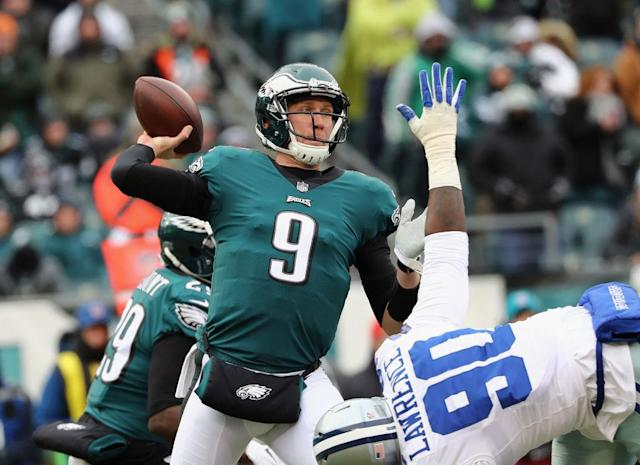 The Eagles' hopes rest with Nick Foles. (Getty)