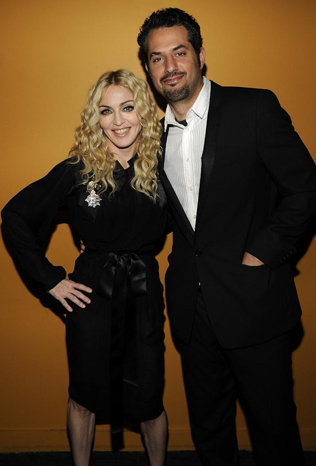 """<a href=""""http://movies.yahoo.com/movie/contributor/1800038606"""">Madonna</a> and <a href=""""http://movies.yahoo.com/movie/contributor/1800424064"""">Guy Oseary</a> at the New York Cinema Society screening of <a href=""""http://movies.yahoo.com/movie/1809992980/info"""">Filth & Wisdom</a> - 10/13/2008"""
