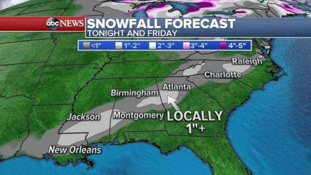 PHOTO: A Winter Weather Advisory has been issued for parts of the Deep South. (ABC)