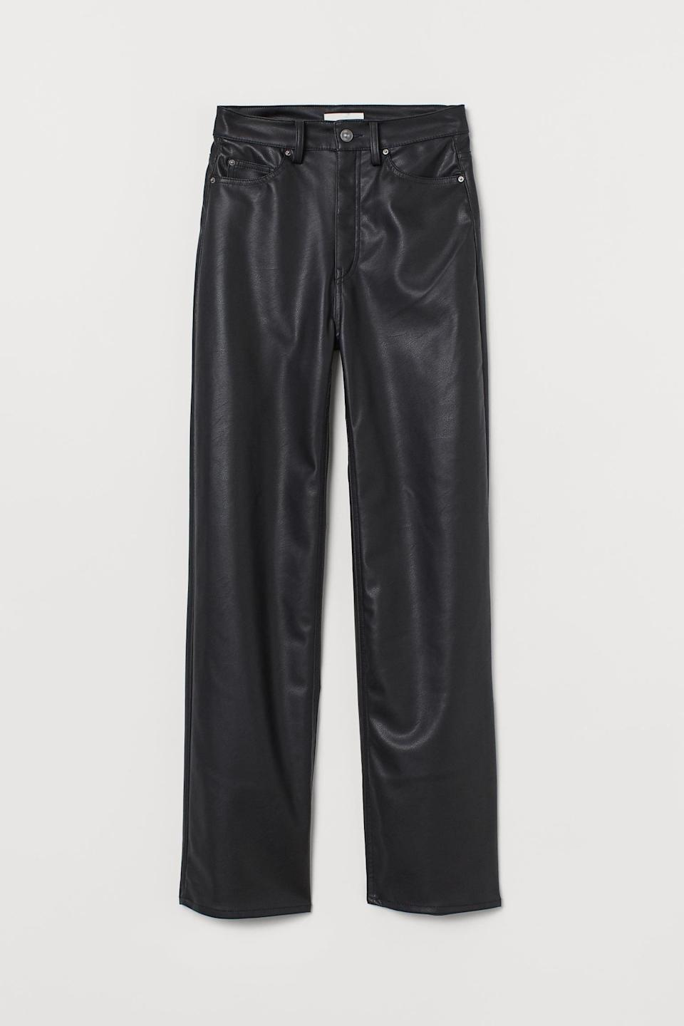 <p>What can you not wear these <span>Faux Leather Pants</span> ($40) with?</p>