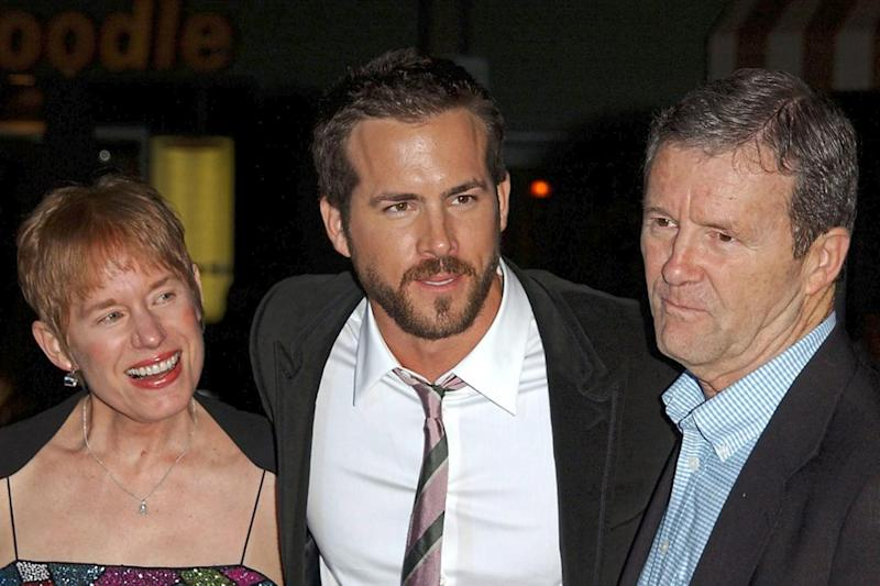 Family: Ryan Reynolds with mother Tammy and father Jim (Rex)