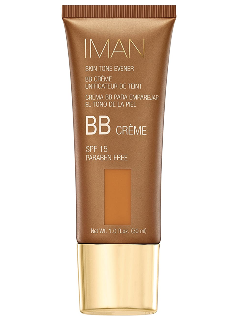 """<p><strong>Iman Cosmetics</strong></p><p>amazon.com</p><p><strong>$16.00</strong></p><p><a href=""""https://www.amazon.com/dp/B00AREG4QS?tag=syn-yahoo-20&ascsubtag=%5Bartid%7C10058.g.3427%5Bsrc%7Cyahoo-us"""" rel=""""nofollow noopener"""" target=""""_blank"""" data-ylk=""""slk:SHOP IT"""" class=""""link rapid-noclick-resp"""">SHOP IT </a></p><p>This drugstore gem can compete with all of its luxury counterparts. The formula absorbs quickly and even offers a dose of vitamin C to brighten uneven skin tones. </p>"""
