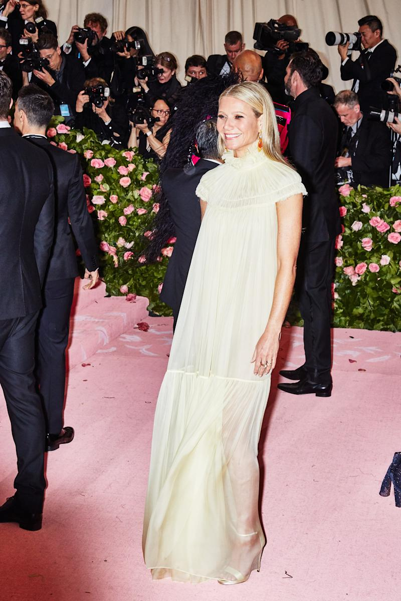 Gwyneth Paltrow on the red carpet at the Met Gala in New York City on Monday, May 6th, 2019. Photograph by Amy Lombard for W Magazine.