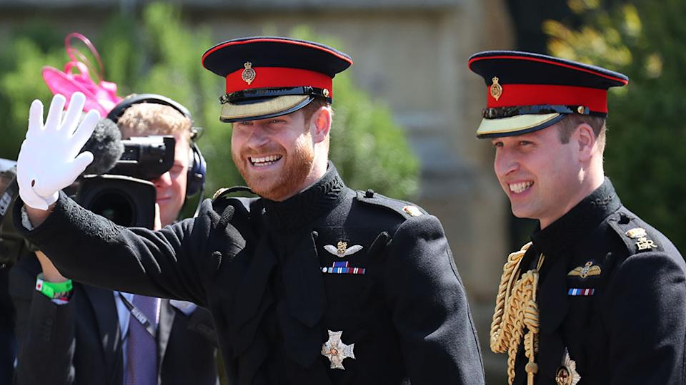 Prince Harry and Prince William before the royal wedding