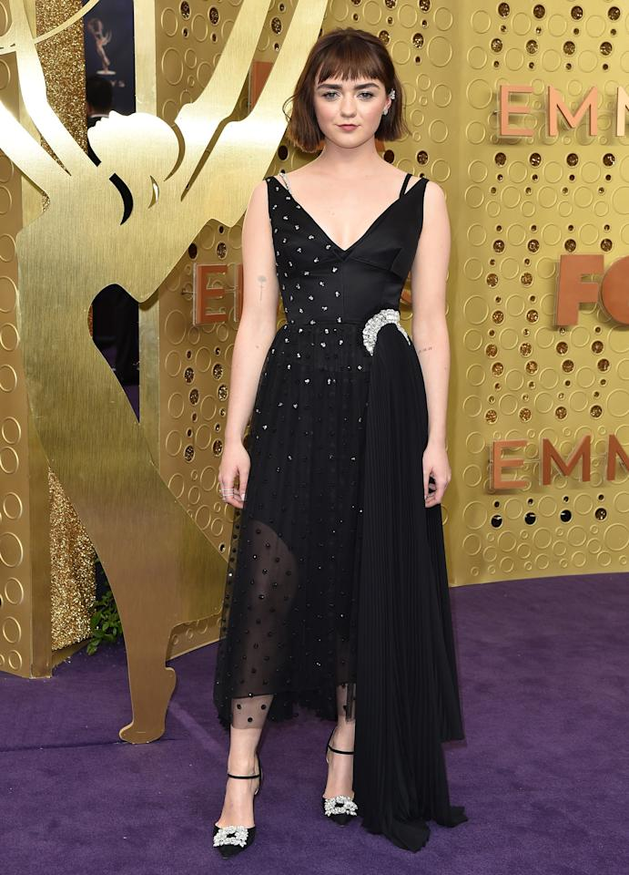 Maisie used the power of the moon, and just a touch of sparkle, for her 2019 Emmys look.