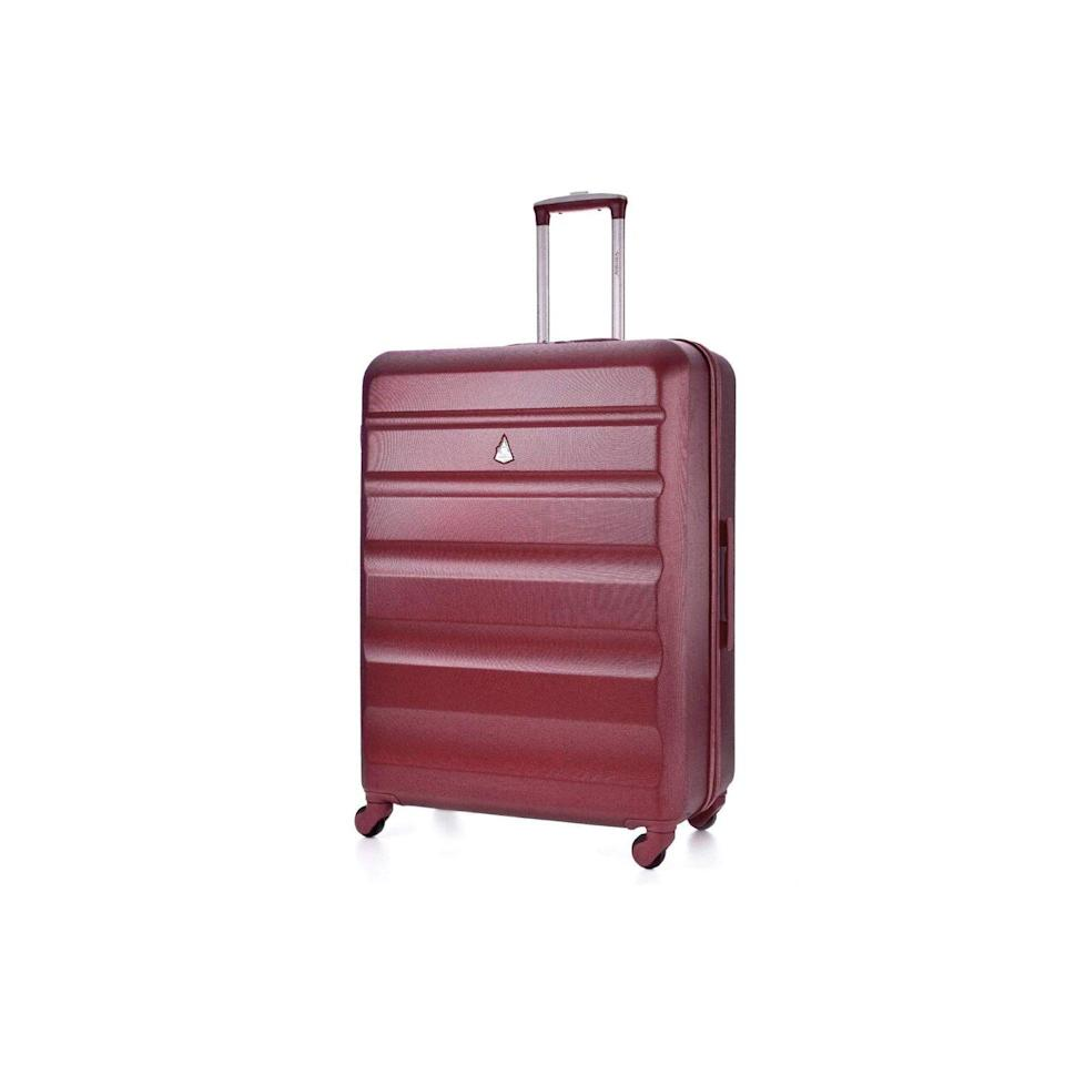 """<p><a class=""""link rapid-noclick-resp"""" href=""""https://www.amazon.co.uk/Aerolite-Lightweight-Luggage-Suitcase-Charcoal/dp/B01M018Z1J/?tag=hearstuk-yahoo-21&ascsubtag=%5Bartid%7C1919.g.28101108%5Bsrc%7Cyahoo-uk"""" rel=""""nofollow noopener"""" target=""""_blank"""" data-ylk=""""slk:BUY NOW"""">BUY NOW</a> <strong>£43.99</strong></p><p>An affordable and lightweight 79cm case, Aerolite's four-wheel bag has been praised by Amazon customers for being """"very light and actually quite strong"""". It comes with a three-digit combination barrel padlock to keep it secure too.</p>"""