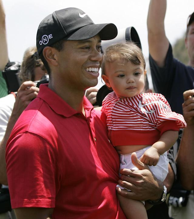 <p>Woods and his wife had their first child, daughter Sam Alexis Woods, in 2007. Their son Charlie was born two years later. </p>