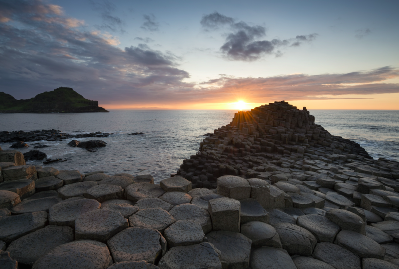 The Giant's Causeway has cause to make people happy (Picture: Rex)