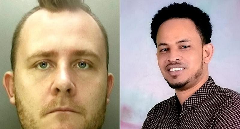 Dominik Dabrowski, 31, left, knocked down Kibreab Tewelderbrhan, 29, shortly before 3am on October 30 last year. Despite the efforts of paramedics he died the following day. (SWNS)
