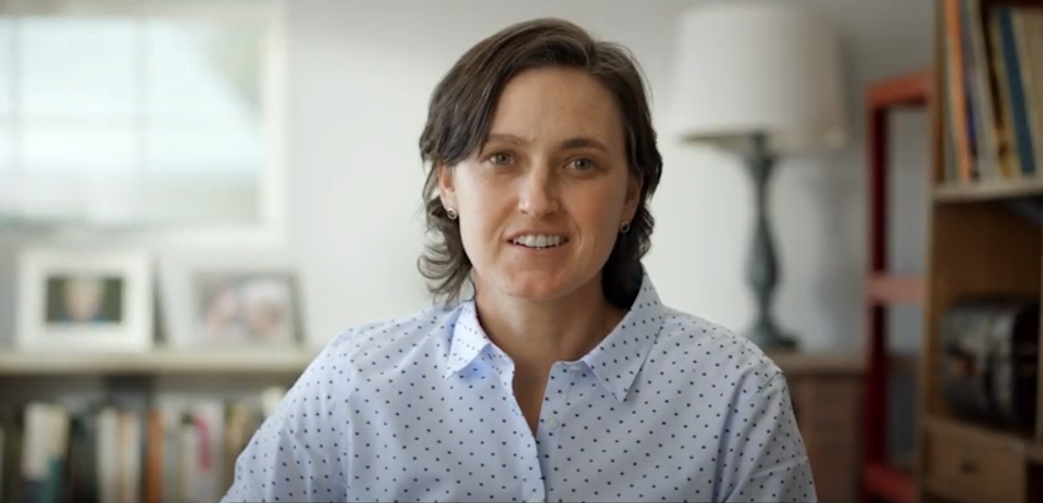 The Rev. Jasmine Beach-Ferrara speaks in a video released with her March 3 announcement of her campaign for the 11th U.S. House District, now held by Rep. Madison Cawthorn, R-Henderson.